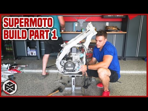 CONVERTING A DIRT BIKE [Supermoto Build Part 1]