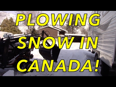 Snow Plowing In Canada