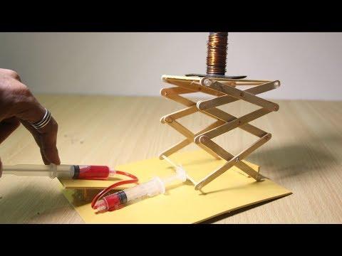 Lifting hydraulic power Test with syringe