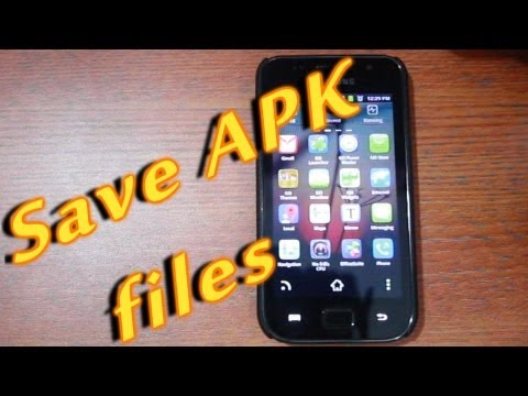 Backup Android Apps and save them as APK files
