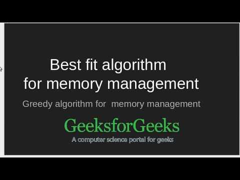 Best Fit algorithm in Memory Management | GeeksforGeeks