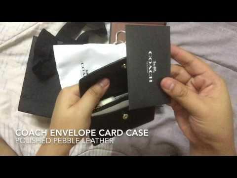 Unboxing Coach Envelope Card Case