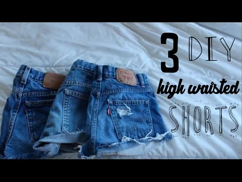 DIY: High waisted jean shorts