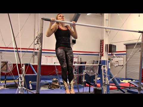 High Bar Walk And Chin Up Workout Challenge With Coach Meggin!