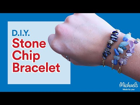 DIY Stone Chip Bracelet | Michaels