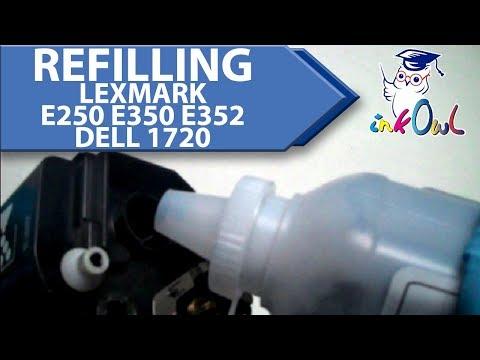 How to Refill Lexmark E250, E350, E352, and Dell 1720 Toner Cartridges