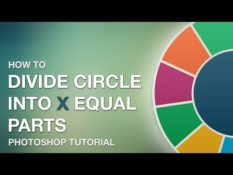 Photoshop Tutorial - Divide circle into equal segments