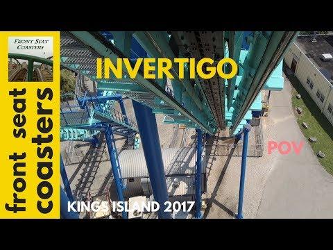 Invertigo POV HD Kings Island 2017 Roller Coaster Front Seat On-Ride Vekoma Boomerang