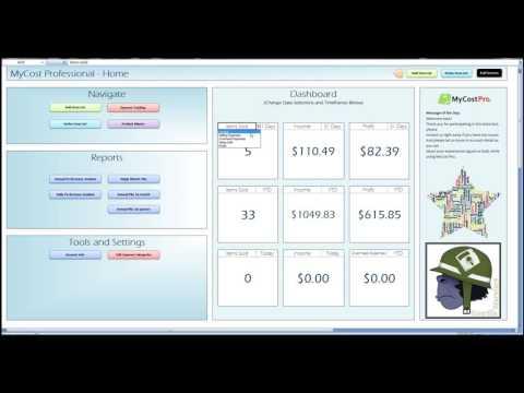 MyCostPro - Download ebay sales - Tutorial 1