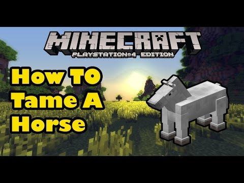 Minecraft PS3/PS4 How To Tame A Horse