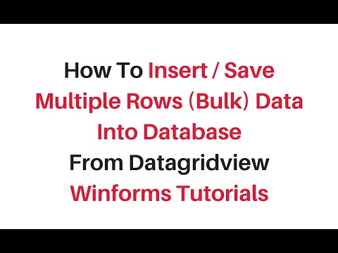 insert multiple rows from datagridview into database c# winforms