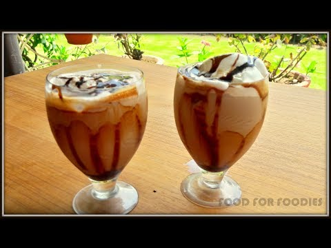 COLD COFFEE WITH ICE CREAM | CAFE STYLE COLD COFFEE AT HOME | कैफ़े जैसी कोल्ड कॉफ़ी  घर  पे  !