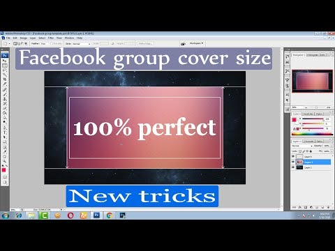How To Create Facebook Group Cover Photo real size । New Tricks | Size And Set 2018