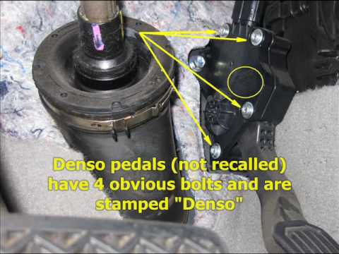 Toyota Throttle Pedal Recall: How to Tell Which One You Have