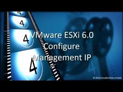 VMware ESXi 6.0 Configure Management IP