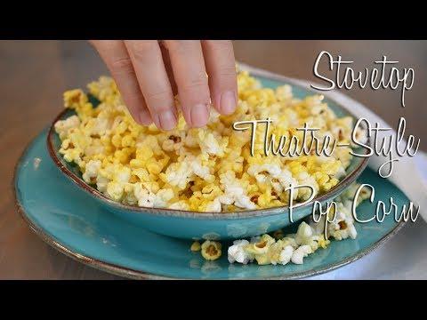 Stovetop Theatre-Style Popcorn | Vegan