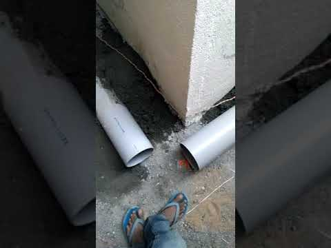 How to install drainage pipe in building Bangalore india
