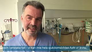 Överläkare Carl Spindler om covid-19