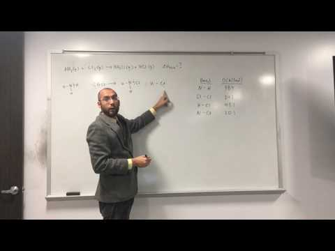Calculate Enthalpy of Reaction (∆Hrxn) From Bond Dissociation Energy (D) 002