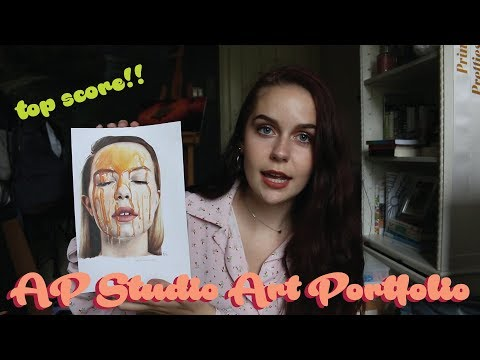 my AP studio art portfolio (drawing + top score)