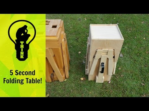 Mind blowing Picnic table transforms into in a small box!