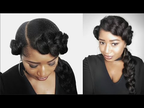 TWO QUICK AND EASY GODDESS BUTTERFLY BRAID    NATURAL HAIR PROTECTIVE STYLE