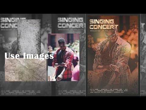Singing Concert Poster Design in Photoshop cc