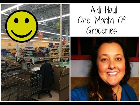 January Aldi Haul For 30 Days
