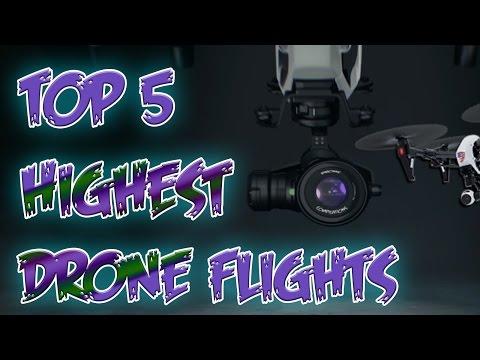 Top 5 Highest Drone Flights