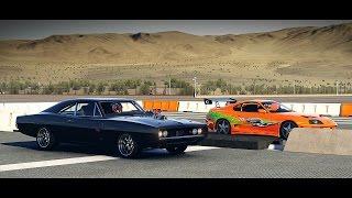 Forza 6: Fast and Furious - Doms 1970 Dodge CHARGER vs. Brians Toyota Supra | Drag Race