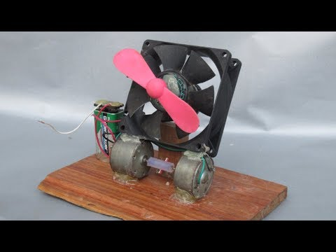 100% Free energy science experiments - How to make free energy electric motor fan with battery