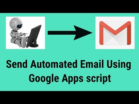 How to Send Automated Email using google apps script