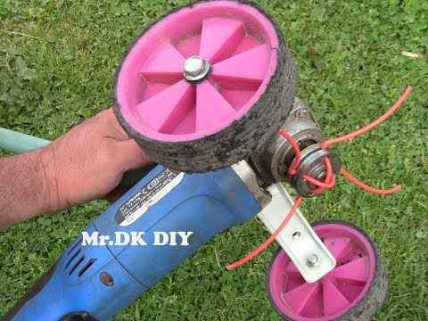HOME MADE GRASS CUTTER USING ANGRLE GRINDER / DIY 2018
