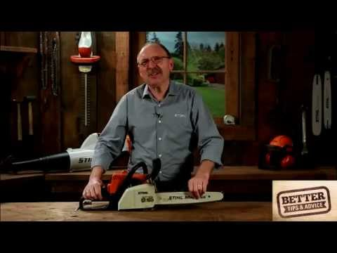 STIHL Better Tips: How to correctly tension the chain on your chainsaw