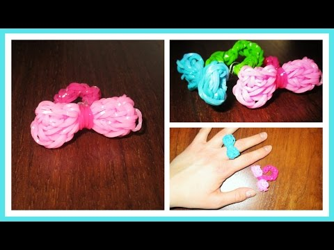 DIY Rainbow Loom Bow Ring | Millie