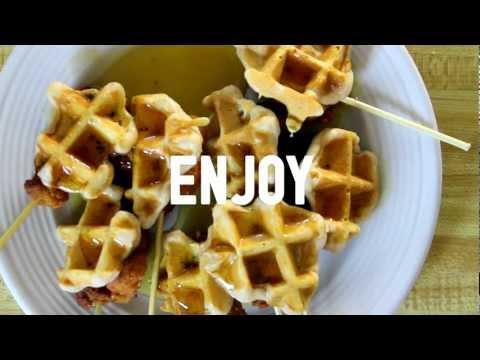 How to make Chicken and Waffle Pops