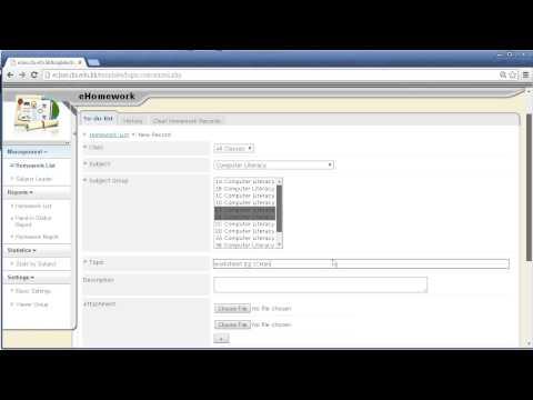 Posting e-Homewrork in eclass