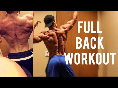 FULL BACK WORKOUT WALKTHROUGH - Tips for Wide & Thick Lats!