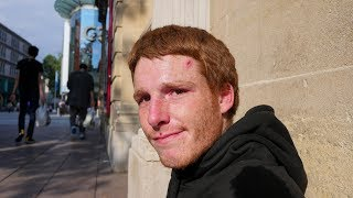 Download Young Homeless Man Shares Real Truth About Sleeping Rough in Cardiff, Wales. Video