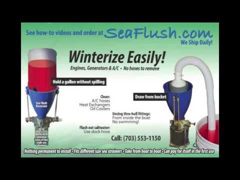 Fast & Easy Boat A/C Winterizing:  2 Air Conditioners, 3 minutes, 2 Quarts Antifreeze with Sea Flush