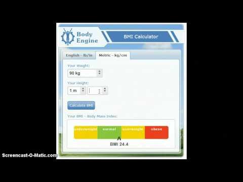 Metric BMI Calculator