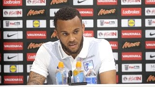 Press Conference With England Defender Ryan Bertrand Ahead Of Lithuania Clash