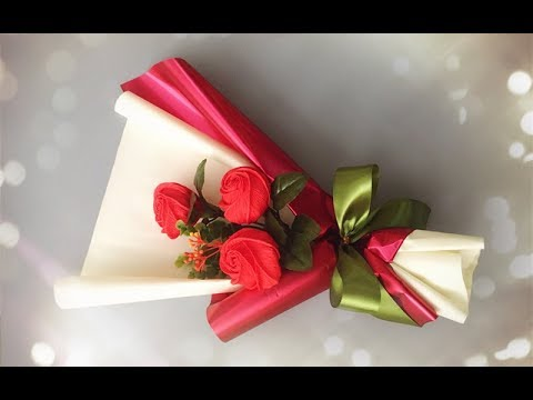 ABC TV | How To Make Flower Bouquet With Three Rose -  Craft Tutorial