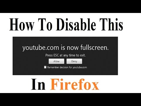 How To Disable -