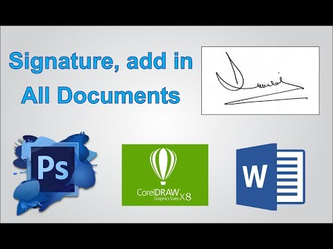 How to Make and add Electronics Signature, in all Documents tutorial by, Amjad Graphics Designer
