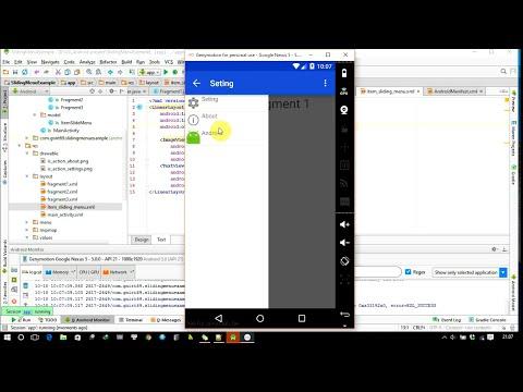 Android studio: create sliding menu example