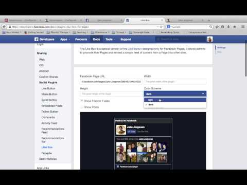 How to add a Facebook like box to Squarespace Website