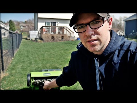 How To Dethatch and Overseed a Lawn - Greenworks Dethatcher