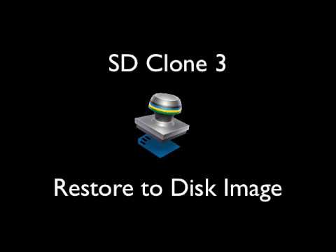 Restore SD Card Image to Disk Image