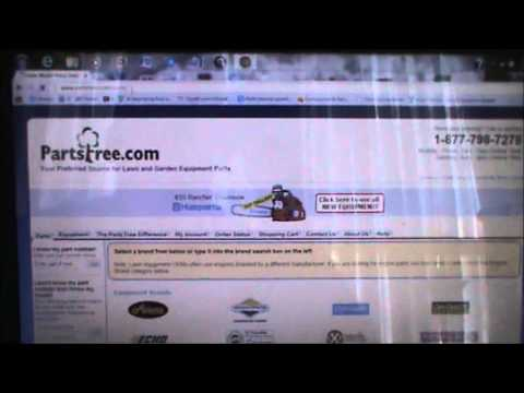 How to look up lawnmower Model numbers and parts